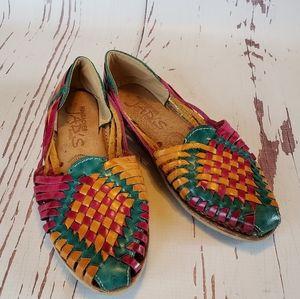 Multicolor Mexican huarache woman shoes 7
